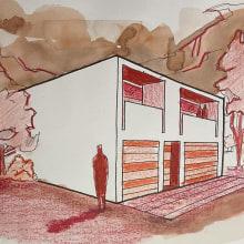 Mi Proyecto del curso: Introducción al dibujo arquitectónico a mano alzada. A Architecture, and Architectural illustration project by Luis Galvez Estrada - 07.30.2021