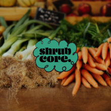 Shrubcore: a subculture inspired campaign to encourage people to grow their own vegetables. Collateral based around a food festival event.. A Design project by alice.e.chandler - 07.31.2021