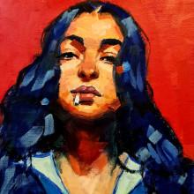 My project in Expressive Oil Portraiture: Explore the Alla Prima Technique course. A Bildende Künste, Malerei, Porträtillustration und Ölmalerei project by Aysha Aldoseri - 29.07.2021