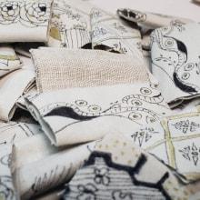 Historias Hilvanadas. Un proyecto de Diseño, Instalaciones, Bellas Artes, Serigrafía, Collage, Pattern Design, Dibujo a lápiz, Dibujo, Estampación, Costura e Ilustración textil de Tania Ortiz - 04.08.2021