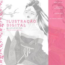 Ilustração Gueixa   Autodesk SketchBook Desktop   Wacom One. Un proyecto de Ilustración, Dibujo, Gestión del Portafolio, Instagram y Dibujo digital de Luana Lencina dos Santos - 13.04.2021