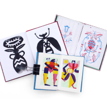 Different explorations from different notebooks!. A Design, Illustration, Bildende Künste, Malerei, Kreativität, Kreativität mit Kindern und Sketchbook project by baviguier - 10.08.2021