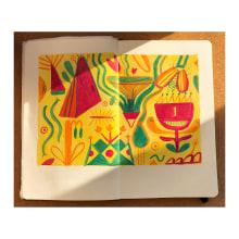 """""""A Walk Through Nature And Imagination"""" Notebook. A Design, Illustration, Bildende Künste, Malerei, Kreativität, Kreativität mit Kindern und Sketchbook project by Anna - 11.08.2021"""