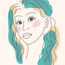 Girl. Line Art. A Illustration, and Graphic Design project by Venera M - 08.11.2021