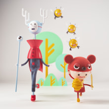 Mi Proyecto del curso: Diseño e ilustración 3D de personajes. A 3D, Character Design, 3d modeling, and 3D Character Design project by Sergio Casado González - 08.15.2021