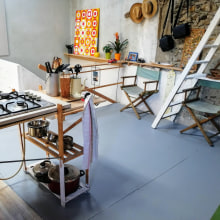 My Grenier Kitchen. Um projeto de Arquitetura de interiores, Design de interiores, Design de iluminação e DIY de Myles Cummings - 10.08.2021