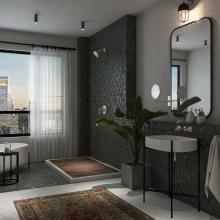 Boho bathroom. Un progetto di 3D, Architettura d'interni e Interior Design di Alia Aziz - 06.09.2021