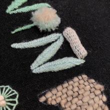 NIÑA FUEGO. A Embroider, and Textile illustration project by Jeisel Hernández Coronado - 05.24.2020
