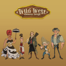 Meu projeto do curso: Fábrica de personagens ilustrados - Wild West Characters. Un proyecto de Ilustración, Diseño de personajes, Ilustración digital, Ilustración infantil y Narrativa de Gilberson Andrade - 12.09.2021