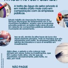 O que acontece se privatizar a água na sua cidade?. Un proyecto de Publicidad, Marketing, Cop, writing y Creatividad de Erick Maia - 18.09.2021