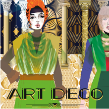 My project in Art Deco Style for Digital Illustration course. A Illustration, Fine Art, Poster Design, and Digital illustration project by Diyah - 09.20.2021