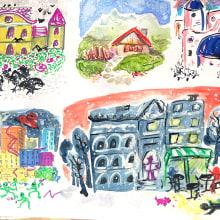 My project in Illustration Techniques to Unlock your Creativity course. A Design, Illustration, Bildende Künste, Malerei, Kreativität, Kreativität mit Kindern und Sketchbook project by Hajnalka Minaei - 21.09.2021
