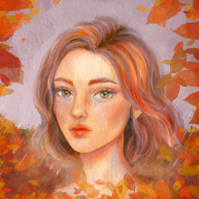 My project in Digital Fantasy Portraits with Photoshop course. A Illustration, Drawing, Digital illustration, Portrait illustration, Portrait Drawing, Digital Drawing, and Digital Painting project by Alise Sandri - 09.21.2021