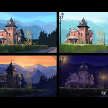 My project in Lighting Principles for Digital Painting course. A Illustration, Digital illustration, and Digital Painting project by vinciane.decamps - 09.24.2021