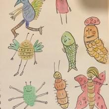 My project in Illustration Techniques to Unlock your Creativity course. A Design, Illustration, Bildende Künste, Malerei, Kreativität, Kreativität mit Kindern und Sketchbook project by Jessica Dabro - 29.09.2021