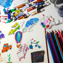Mi Proyecto del curso: Técnicas de ilustración para desbloquear tu creatividad. A Design, Illustration, Bildende Künste, Malerei, Kreativität, Kreativität mit Kindern und Sketchbook project by Merce Majo - 05.10.2021