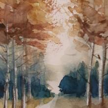 Meu projeto do curso: Paisagens naturais em aquarela. Un proyecto de Bellas Artes, Pintura y Pintura a la acuarela de maria izabel venzon - 12.10.2021