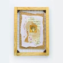 Mi Proyecto del curso: Técnicas de bordado experimental sobre papel. Un proyecto de Bellas Artes, Collage, Bordado e Ilustración textil de Claudia Coria - 21.10.2021