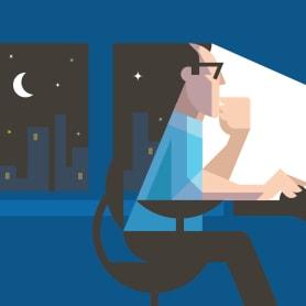 Cómo trabajar después de medianoche