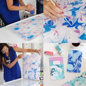Tutorial: Cómo hacer papel marmoleado