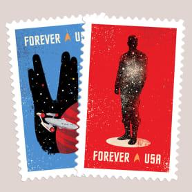 Sellos postales para celebrar el 50 aniversario Star Trek