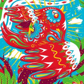 Las ilustraciones con extra de energía de Luis Pinto