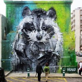 El arte urbano que remueve conciencias de Bordalo II