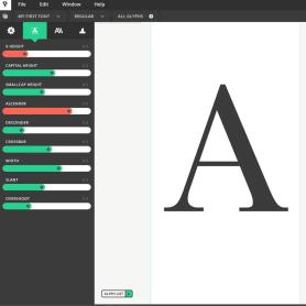 Prototypo permite customizar tipografías