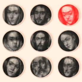 Los retratos, creados con hilo, de Petros Vrellis