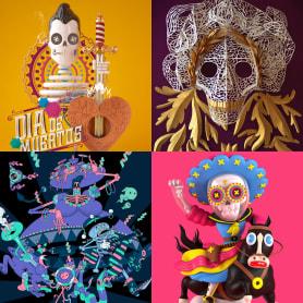 10 diseños para celebrar el Día de Muertos
