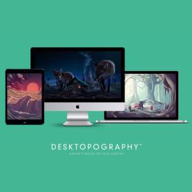 Desktopography, wallpapers gratuitos por y para diseñadores