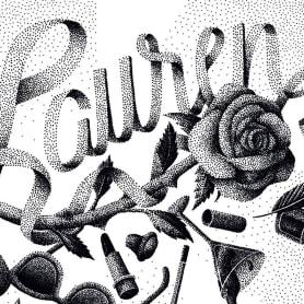 Dibujando lettering punto por punto