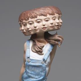 El glitch escultórico de Yoshitoshi Kanemaki