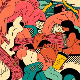 Ilustraciones animadas en clave de cómic de Simon Landrein
