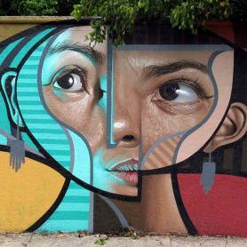 El graffiti realista-cubista de Belin