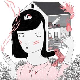 La ilustración tierna y surrealista de Liébana Goñi