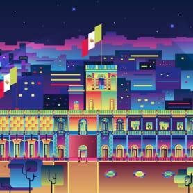 Un homenaje a la arquitectura mexicana a todo color