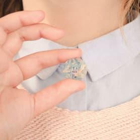 Botones creados a partir de billetes triturados