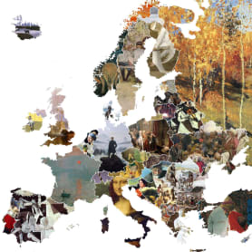 El arte más representativo de Europa en un mapa