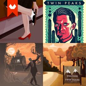 12 ilustradores y diseñadores revisitan Twin Peaks
