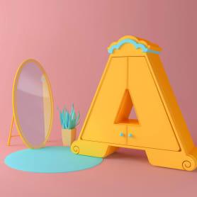 Las letras en tres dimensiones de Tati Astua