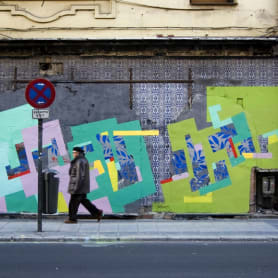 Nuria Mora transforma la ciudad en una jungla de color