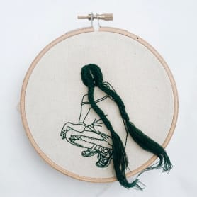 Sheena Liam y los bordados que se pueden peinar