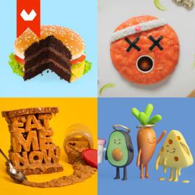 10 diseñadores que disfrutan jugando con comida