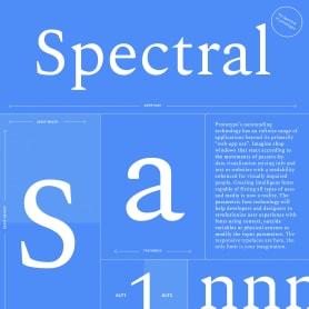 Spectral, la primera tipografía responsive de Google