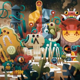 Los locos mundos ilustrados de Zeptiror