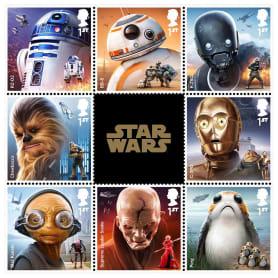 Sellos de Star wars para celebrar el 'Episodio VIII: Los últimos Jedi'