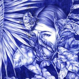 Las ilustraciones de Nuria Riaza se tiñen de azul
