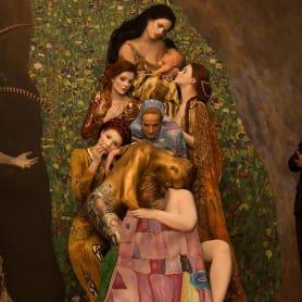La obra de Gustav Klimt recreada en fotografías