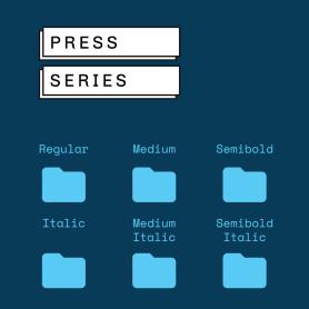 Press Series, las tipografías libres de Omnibus-Type